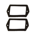 1970 - 1973 Rear License Plate Light Lens Gaskets Set, Pair
