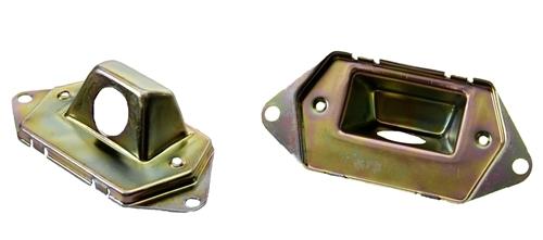 70-73 Camaro Rear License Plate Gas Fuel Door Lamp Light HOUSINGS Only  Pair