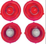 1971 - 1973 Tail Light and Backup Light Lenses Set, Standard, 4 Pieces