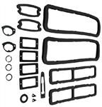 1968 Camaro Exterior Lens Gaskets Set, Standard Grille, Paint and Light Lenses