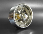1970 - 1973 Camaro Rally Sport Billet Aluminum Park Light Assemblies Set with Amber LED Bulbs, Pair
