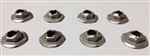 1970 - 1973 Marker Light Lens Mounting Nuts Set, Self-Threading, 8 Pieces