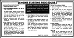 1972 - 1973 Instruction Information Decal, Ignition Starting on Sunvisor, 6263563