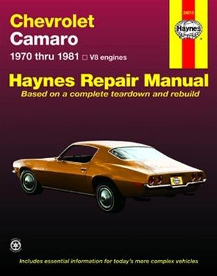 1970 1981 haynes repair manual chevrolet camaro rh camarocentral com 2014 Chevrolet Camaro SS Chevrolet Camaro Car