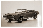 1967 Camaro GM Dealer Poster, Super Sport Rally Sport Convertible Top Down, Black and White | Camaro Central