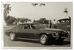 1971 GM Dealer Poster, Side View, Black and White