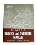 1970 Camaro Chassis Service Manual, Additional Supplement