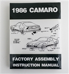 1986 Camaro Factory Assembly Instruction Manual