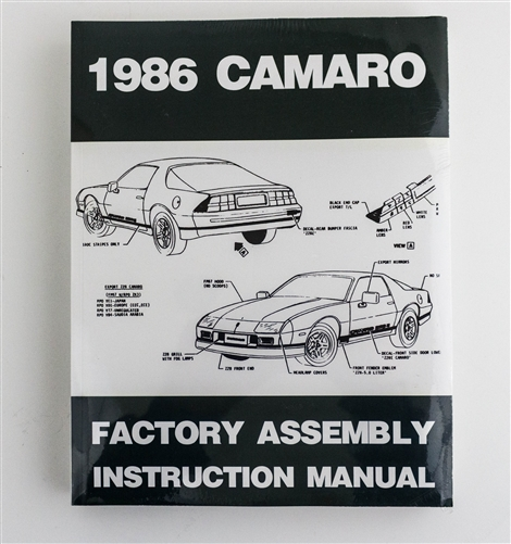1986 camaro factory assembly instruction manual rh camarocentral com 1968 camaro assembly manual page 163 1986 camaro assembly manual pdf