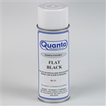Camaro Quanta FLAT BLACK Spray Paint, 12 Ounce Can