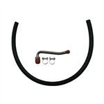 1967 - 1972 Power Steering Return Hose, OE Style with Unattached Fittings and Clamps