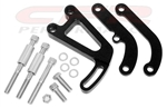 1969 - 1986 Small Block Chevy BLACK BILLET ALUMINUM Power Steering Pump Brackets Set
