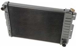 1967 - 1969 4 Core Row Camaro w/ Factory AC Small Block OE Style Radiator for Manual Trans, 23 Inch