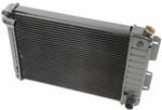 1967 - 1969 4 Core Row Camaro Big Block COPO Bent Curved Neck OE Style Radiator for Automatic, 23 Inch