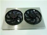 "1967 - 1967 Small Block Custom Fit Aluminum Shroud with 10"" Electric Fans"