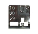 1969 Radiator ID Tag, UY, Manual Transmission Curved Neck, 4 core, 396/427