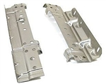 1967 - 1969 Radiator Mounting Brackets Set, Side, 2 or 3 Core, Pair