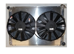 1967 - 1969 Aluminum Radiator, Griffin Performance Direct Fit Unit Combo Kit with Shroud and Fans. 26.24 x 18.63 GM Outlets,