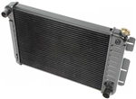 1967 - 1969 Camaro 4 Core Row Camaro Small Block or 6 Cylinder Radiator for Automatic, 21 Inch