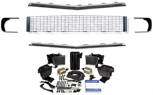 1968 camaro rally sport grille kit  black