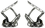 1967 1968 1969 Camaro Hood Hinges Set, Show Quality Chrome Plated, Pair LH and RH
