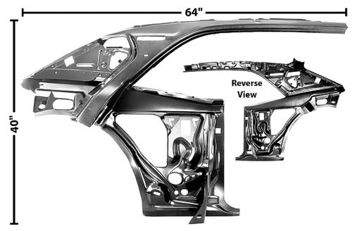 1967 1969 Camaro Quarter Panel And Door Frame Assembly