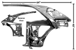 1967 - 1969 Quarter Panel and Door Frame Assembly, Inner LH