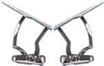 1970 - 1981 POLISHED Billet Aluminum Hood Hinges