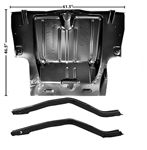 1969 Camaro Full Trunk Floor Panel and Frame Rails for Mini Tubs