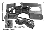 1978 - 1981 Camaro Firewall Without Air Conditioning, with Extensions / Toe Boards, Lower Section