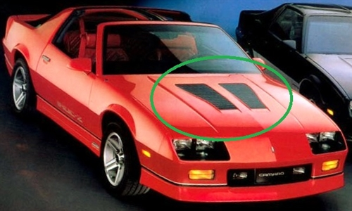 1985 1990 camaro hood louver z28 and iroc lh and rh pair. Black Bedroom Furniture Sets. Home Design Ideas