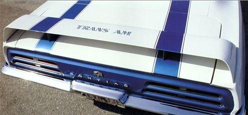 1969 Camaro Rear Spoiler, Firebird Trans Am Style