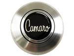 Custom 70's CAMARO Logo Horn Cap for Wood or Comfort Grip Steering Wheel, Choose Brushed or Black Finish