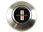 Custom CAMARO SHIELD  Logo Horn Cap for Wood or Comfort Grip Steering Wheel, Choose Brushed or Black Finish
