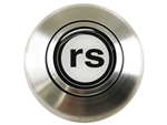 Custom RS  Logo Horn Cap for Wood or Comfort Grip Steering Wheel, Choose Brushed or Black Finish