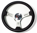 1967 - 1989 Camaro Steering Wheel Kit, Custom Black Leather