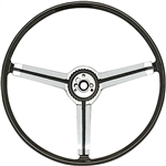 1967 Camaro Z87 Deluxe Steering Wheel with Spokes and Polished Chrome Spider Insert, 9746436