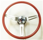 1967 - 1989 Camaro RED Comfort Grip Steering Wheel Kit, 14 Inch Diameter