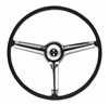 1967 Camaro Steering Wheel Kit, Deluxe, Chrome 3-Spoke Shroud, Complete, Choice of Horn Button
