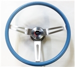 1967 - 1989 Camaro BLUE Comfort Grip Steering Wheel Kit, 14 Inch Diameter