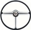1968 Camaro Steering Wheel, Satin Chrome 3-Spoke Shroud, 9747536
