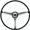 1968 Camaro Steering Wheel Kit, Satin Chrome 3-Spoke Shroud, Choice of Horn Button