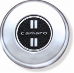 1968 Camaro Horn Cap with Emblem, camaro, Standard, Brushed Chrome