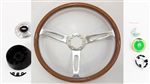 1967 - 1989 Custom Camaro Genuine Wood Steering Wheel Kit
