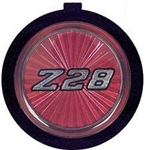 1970 - 1981 Camaro Horn Cap Emblem Button Only, Z28 Red, 4-Bar, 14008377