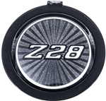 1970 - 1981 Camaro Horn Cap Emblem Button Only, Z28 Charcoal, 4-Bar