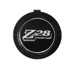 1970 - 1981 Camaro Z28 Horn Cap Emblem Button Only, Black and Silver