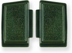 1969 Horn Buttons Set, Standard, Dark Green, Pair LH and RH