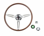 1969 Camaro Rosewood Steering Wheel Kit, for Non-Tilt Columns