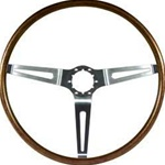 1967 - 1968 Camaro Steering Wheel, Walnut Woodgrain, 9746195